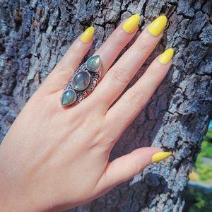 Boho Labradorite Flashy .925 Ring NWOT